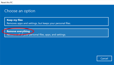 Windows 10 Remove Everything