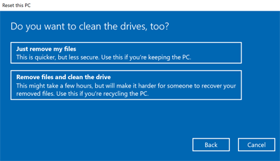Windows 10 Clean Drive