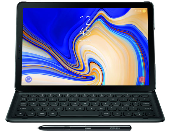 "Samsung Galaxy Tab S4 Wi-Fi 64 GB Bundled Book Cover Keyboard 10.5"" SM-T830"